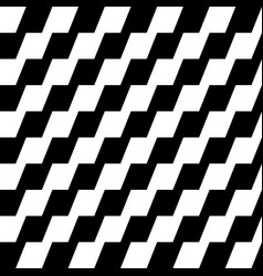 Repeatable geometric pattern with zigzag slanting vector