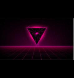 Retrowave synthwave vaporwave pink cyber laser vector