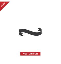 ribbon black banner icon vector image