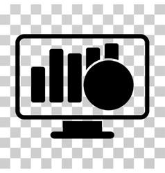 Sales Monitor Icon vector