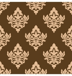 Seamless pattern with floral arabesques vector
