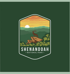 Shenandoah national park emblem logo vector