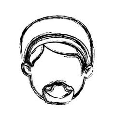 shepherd face manger character image vector image