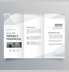 Simple trifold brochure template design with vector
