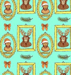 Sketch monkey vector image
