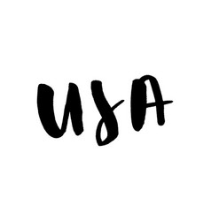 slogan a custom-made lettering word usa vector image