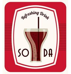 Soda design vector
