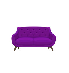 sofa and couch colorful cartoon vector image