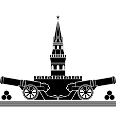 Stencil russian kremlin vector