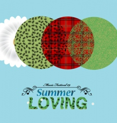 summer elements vector image
