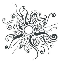 Sun rays ornament vector image