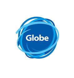 Template logo design globe vector
