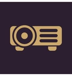 The projector icon Presentation symbol Flat vector