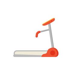 Treadmill electric device icon vector