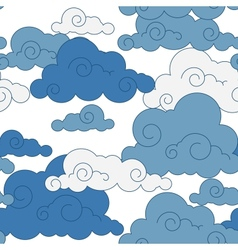 vintage cloud Chinese seamless pattern vector image