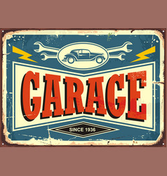 Vintage garage sign vector