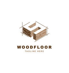 Wood logo with letter s shape vector