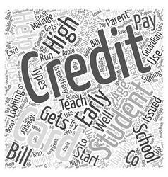 Credit Cards For High School Students Word Cloud vector image