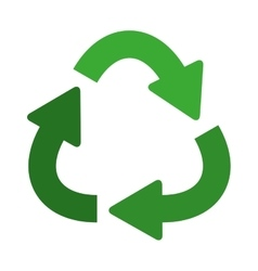 green separate recycling symbol shape with arrows vector image
