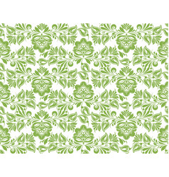 greenery flower leaves seamless pattern background vector image