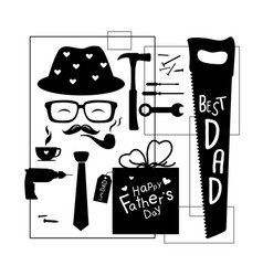 happy fathers day design on white background vector image vector image