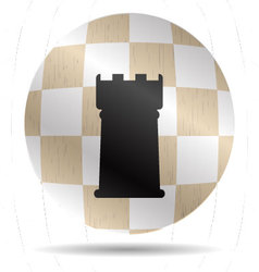 Icon chess rook vector image