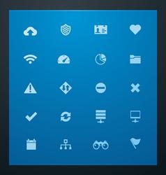 universal glyphs 8 web icons vector image