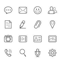Chat Icons for Application vector image vector image