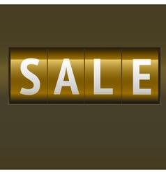 Sale mechanical scoreboard vector image vector image