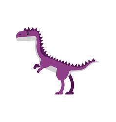cute cartoon purple dinosaur prehistoric and vector image vector image