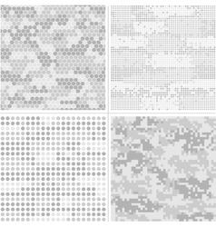Seamless digital pixel camouflage vector