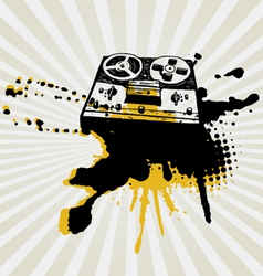 vintage tape recorder vector image vector image