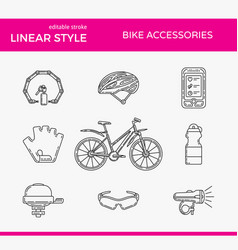 Active lifestyle outline icon set vector