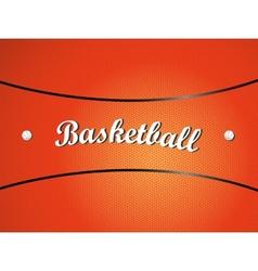 Basketball texture vector image