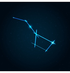 Big dipper constellation vector image
