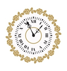 Clock watch alarms icons vector image