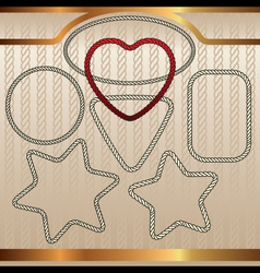 ropes set vector image vector image