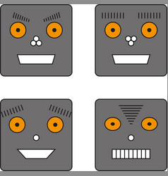 set of four robots vector image vector image