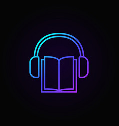 audio book concept icon vector image