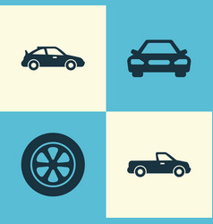 Automobile icons set collection crossover vector