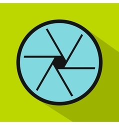 Big objective icon flat style vector