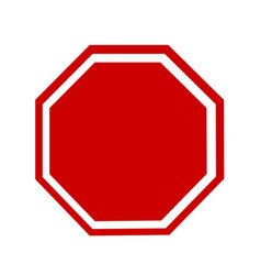 blank stop sign vector image