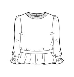 blouse for women vector image