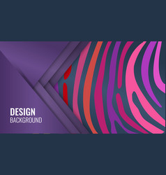 bright purple horizontal abstract banner color vector image