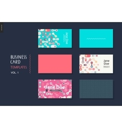 business card template volume 1 vector image