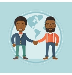 Business partners shaking hands vector