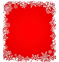 christmas background with snowflakes pattern vector image