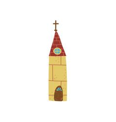 church building urban architecture design element vector image
