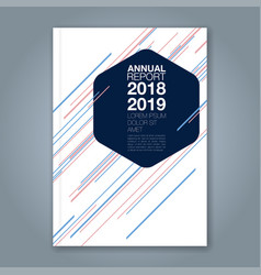 cover annual report 946 vector image