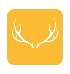 Deer horns icon vector